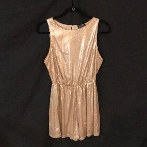 NWT Sequin Short champagne colored ROMPER by ASTR